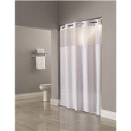 HOOKLESS MADISON WHITE SHOWER CURTAIN WITH SNAP LINER 71 IN X 77 12 PER CASE