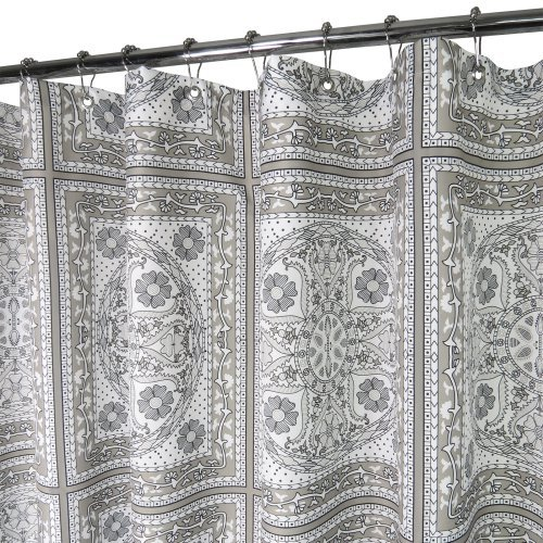 Watershed Medallion Tiles Shower Curtain