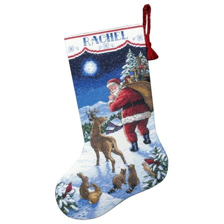 Santa's Arrival Stocking Counted Cross-Stitch Kit, - Cross Stitch Christmas Stocking