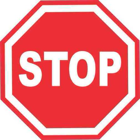 Road Stop - 3inx3in Stop Sign Sticker Vinyl Road Signs Stickers Traffic Symbol Decals