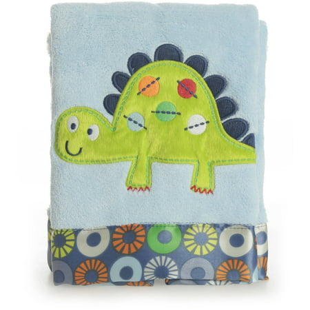 Bananafish Little Dino Plush Applique Blanket Walmart Com