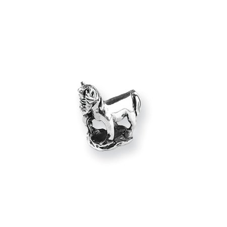 Sterling Silver Prancing Horse Bead Charm