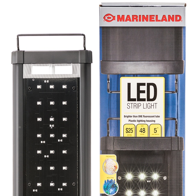 "Marineland LED Strip Light for Aquariums Size 48 - 12 Watts - (Aquariums 48""-60\"" Wide)"