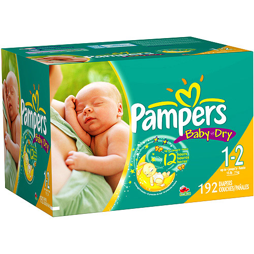 Pampers - Baby Dry Diapers (sizes newborn, 1/2, 3, 4, 5, 6)