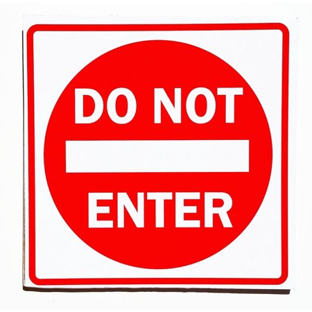 Do Not Enter Fun College Door Signs Humourous Plaque Home Decor Gift ()