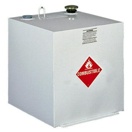 Delta 485000 50 Gallon Square Steel Liquid Transfer Tank - White