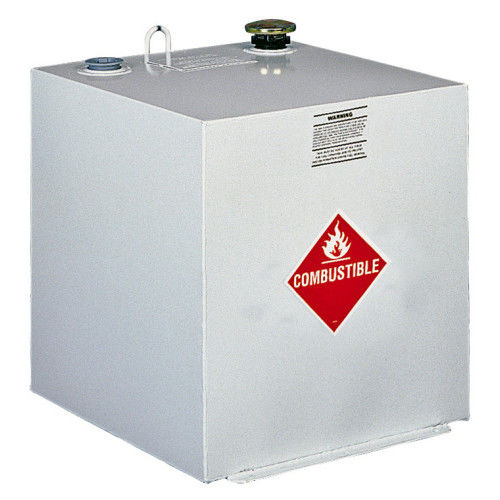 Delta 485000 50 Gallon Square Steel Liquid Transfer Tank - White