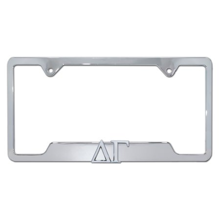 Delta Gamma Sorority Chrome Open License Plate Frame Delta Gamma Sorority