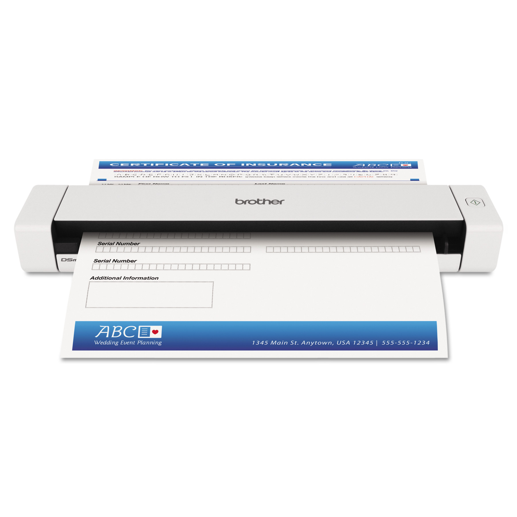Brother DS620 Mobile Scanner, 600 x 600 dpi