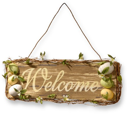 "21"" Easter Welcome Sign by National Tree"