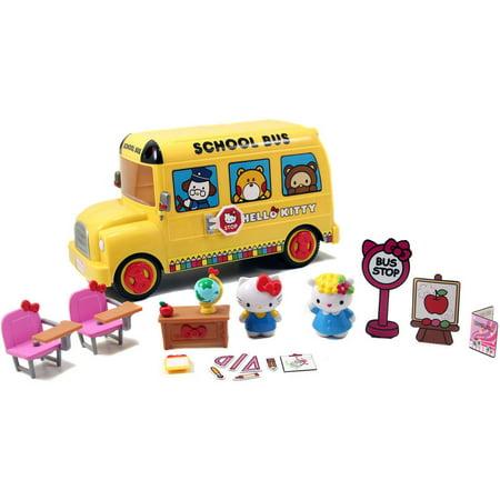 Jada Toys Hello Kitty Deluxe School Bus Playset