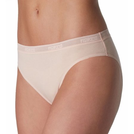 Women's Naked W120109 Everyday Naked Pima Cotton High Cut Brief (Pima Cotton Brief)