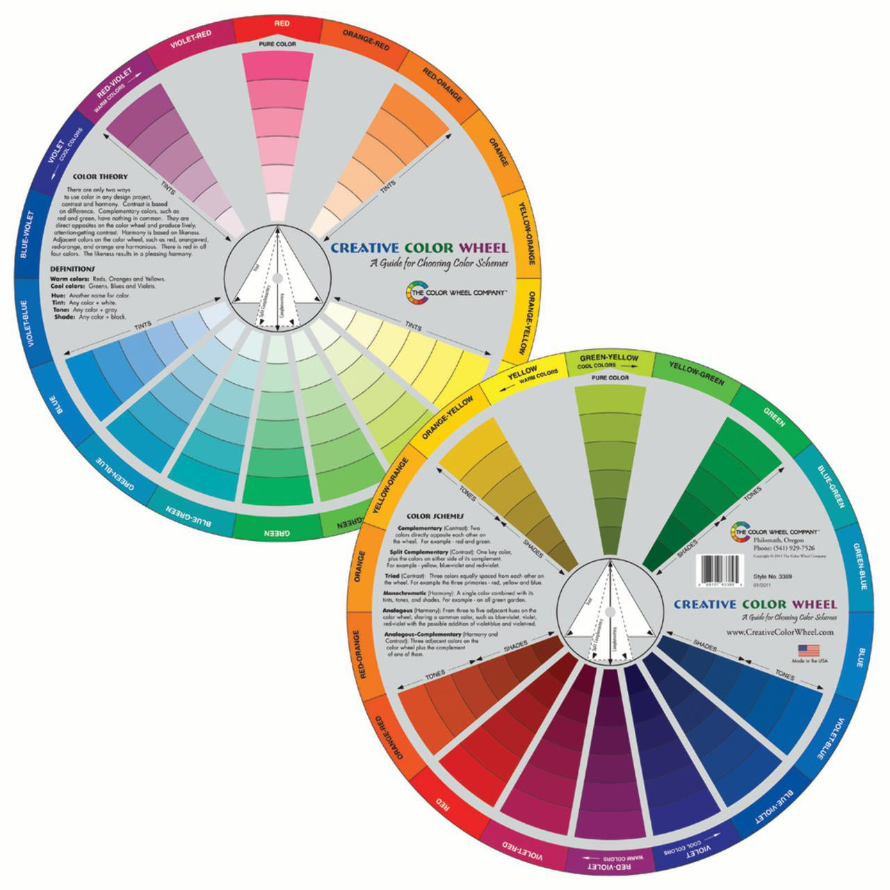 color wheel co creative color wheel 9 1 4 diameter. Black Bedroom Furniture Sets. Home Design Ideas