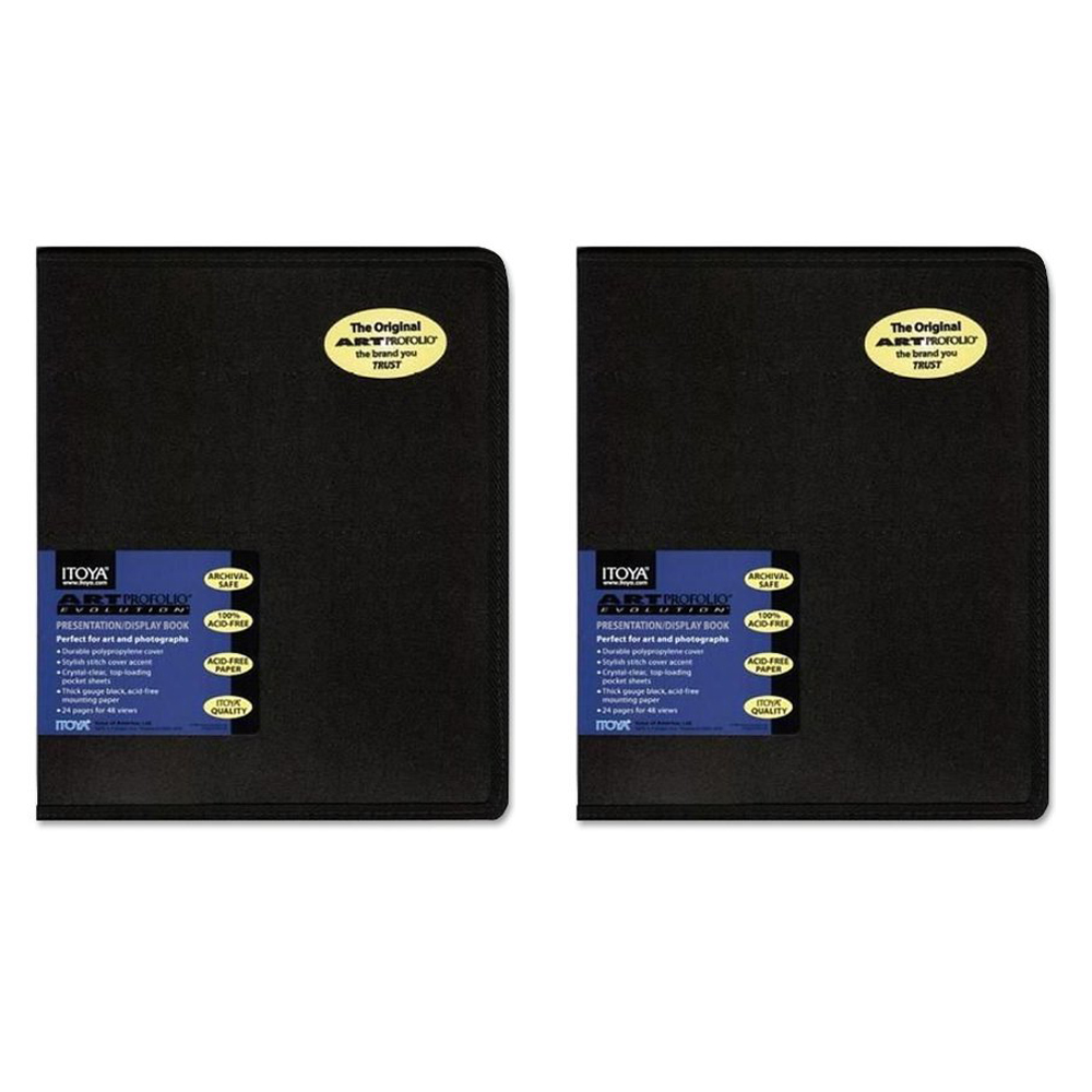 Itoya EV-12-5 Art Profolio Evolution 5x7in. Photo Size 24 Sheets for 48 Pictures Black (2 Pack)