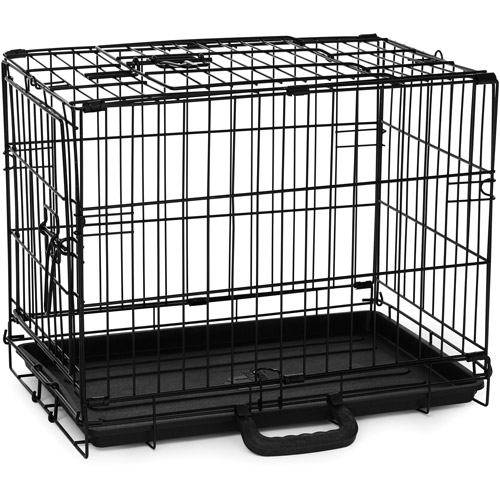 Prevue Pet Products Home On-the-Go Double Door Dog Crate, Black