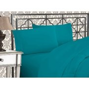 Elegant Comfort  Silky-Soft 1800 Series  - Wrinkle-Free 4-Piece Bed Sheet Set, Deep Pocket up to 16 inch, Queen Turquoise