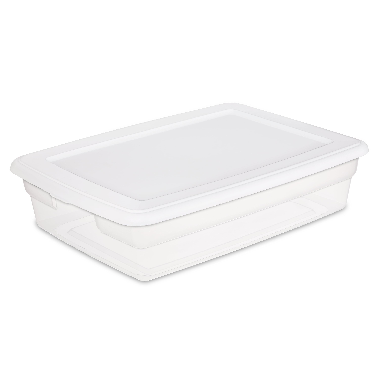 Sterilite 28 Qt 26 L Storage Box White Walmart Com Walmart Com
