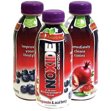 M&M 14-027 Noxide Acai Berry Pom Detox Drink 16oz