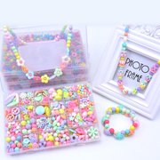Jewelry making supplies beads set kids adults children craft diy necklace bracelets colorful acrylic crafting beads kit box with mozeypictures Image collections