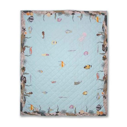 Patch Magic Underwater Haven Lap Throw Quilt by Patch Magic
