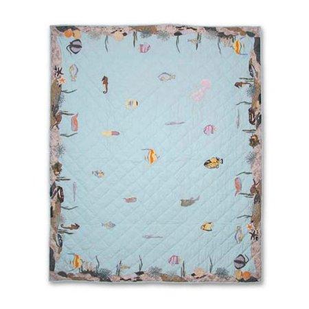 Patch Magic Underwater Haven Lap Throw Quilt