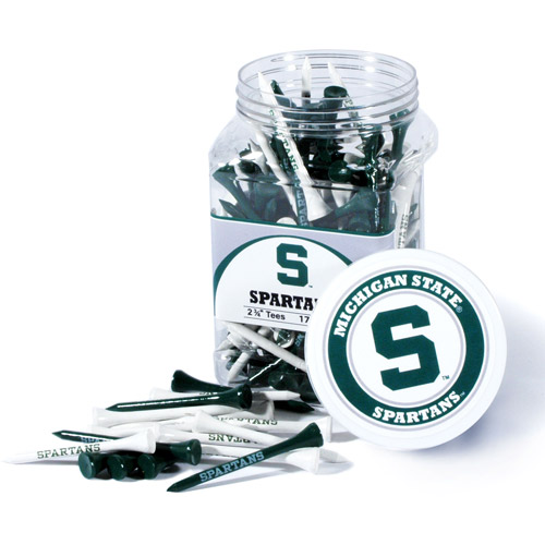 Team Golf NCAA Michigan State Jar Of 175 Golf Tees