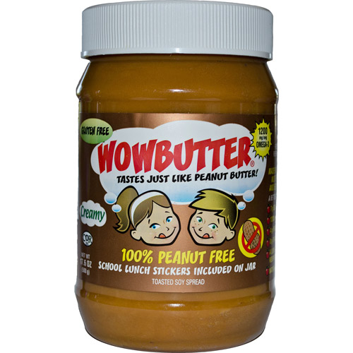 Wowbutter Creamy Peanut Free Toasted Soy Spread, 17.6 oz