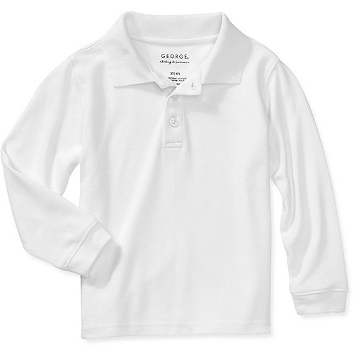 George Unisex Toddler Uniform Long Sleeve Sleeve Polo Shirt