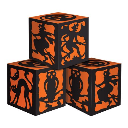 3-Pack Halloween Favor Boxes, 3-1/4-Inch by 3-1/4-Inch, This item is a great value! By Beistle (Halloween Promo Items)
