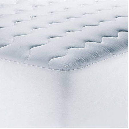 down queen cover filled topper top hypoallergenic pillow amazon cotton pillowtop alternative com dp pad size mattress