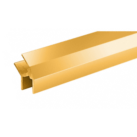 CRL D634BGA Brite Gold Anodized 135 Degree Partition Post for Special Installation