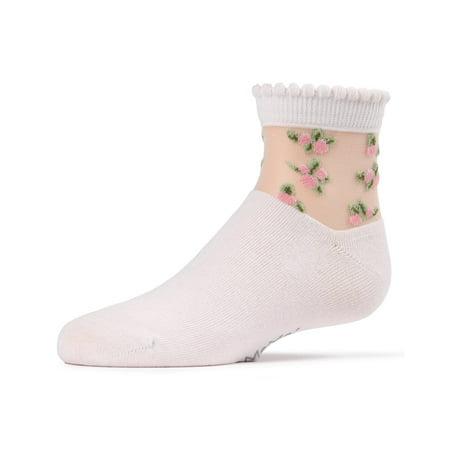 MeMoi See Through Socks | Trendy Girls Socks by MeMoi 4 / Light Pink MKF 6015 - Trendy Socks