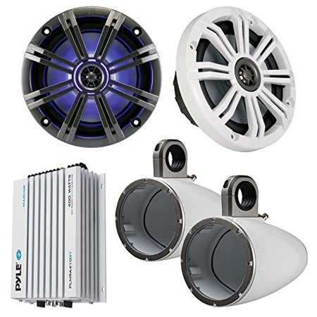 Marine Speaker Package 2x Kicker KM654LCW 6.5