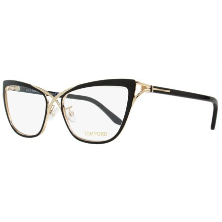 Tom Ford Butterfly Eyeglasses TF5272 005 Size: 53mm Rose Gold/Black (Tom Ford Clear Glasses)