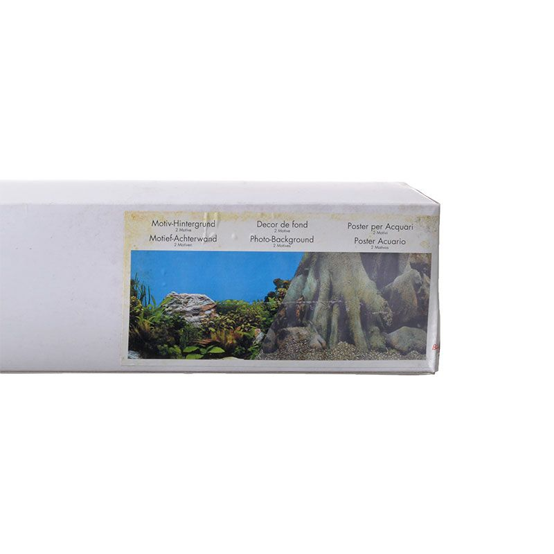 """Blue Ribbon Freshwater Rock & Tree Trunks Double Sided Aquarium Background 50' Long x 19"""" High by Blue Ribbon Products"""