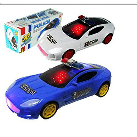 Bump and Go Police Car 3-D Colorful Lights With Sound and Police Voice, Toy:106