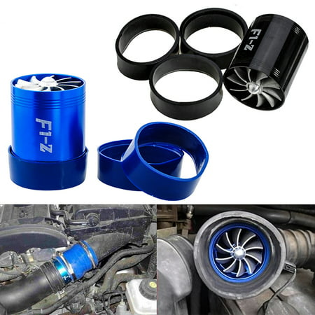 Air Intake Turbo - Supercharger Air Intake Dual Fan Turbonator Fuel Saver For Turbo Turbine Supercharger