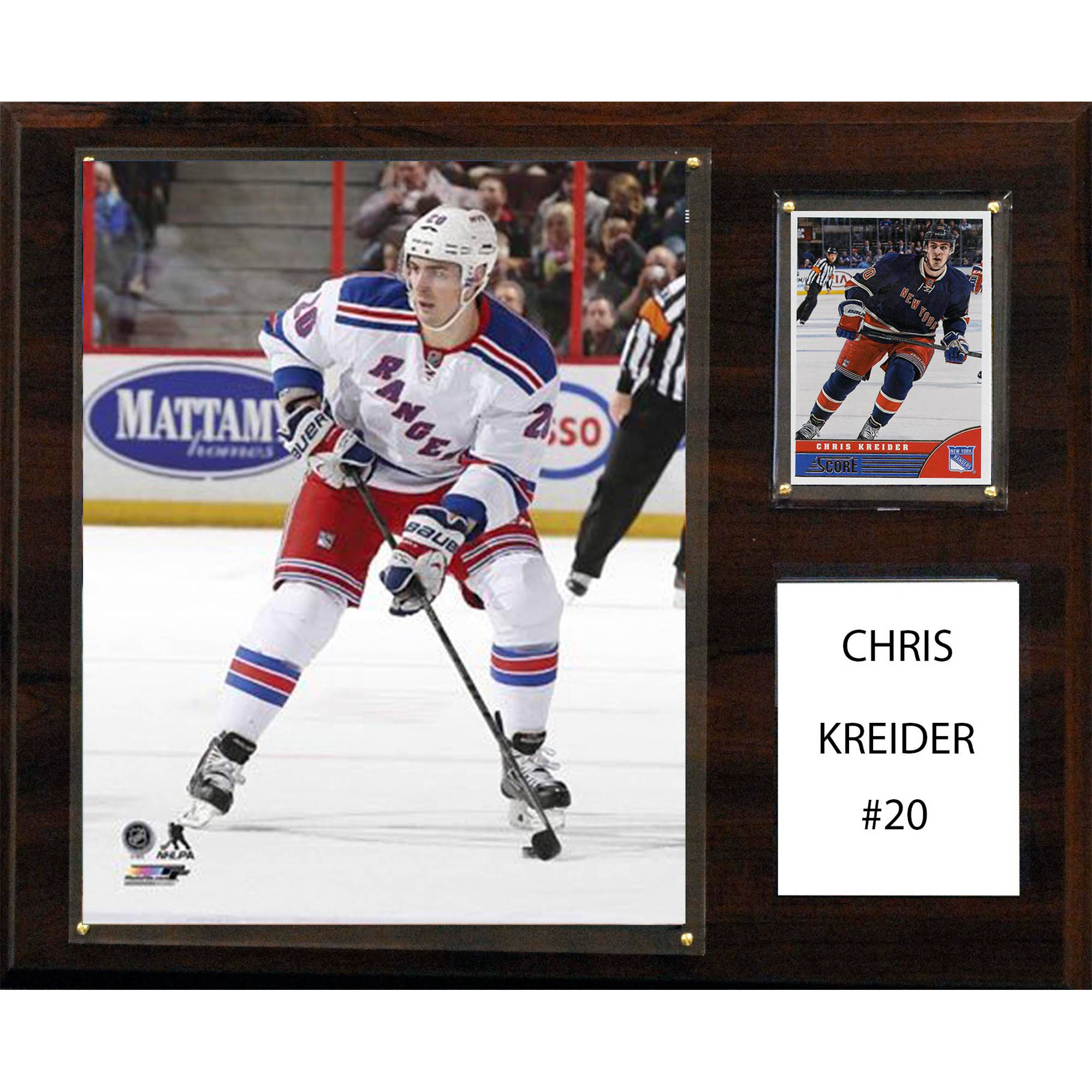 C&I Collectables NHL 12x15 Chris Kreider New York Rangers Player Plaque