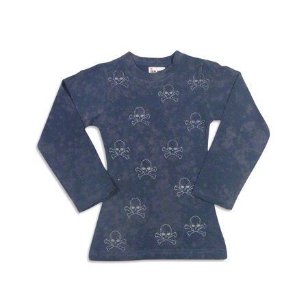 Celeb Kids - Little Girls Long Sleeve Top navy skulls / 4