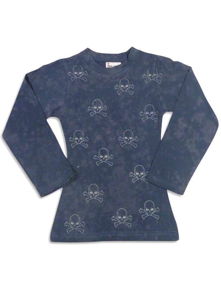 Celeb Kids - Little Girls Long Sleeve Top navy skulls / 4