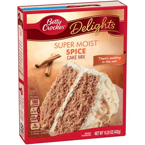 Betty Crocker Super Moist Cake Mix Spice 15.25 oz Box, 15.25 OZ by General Mills