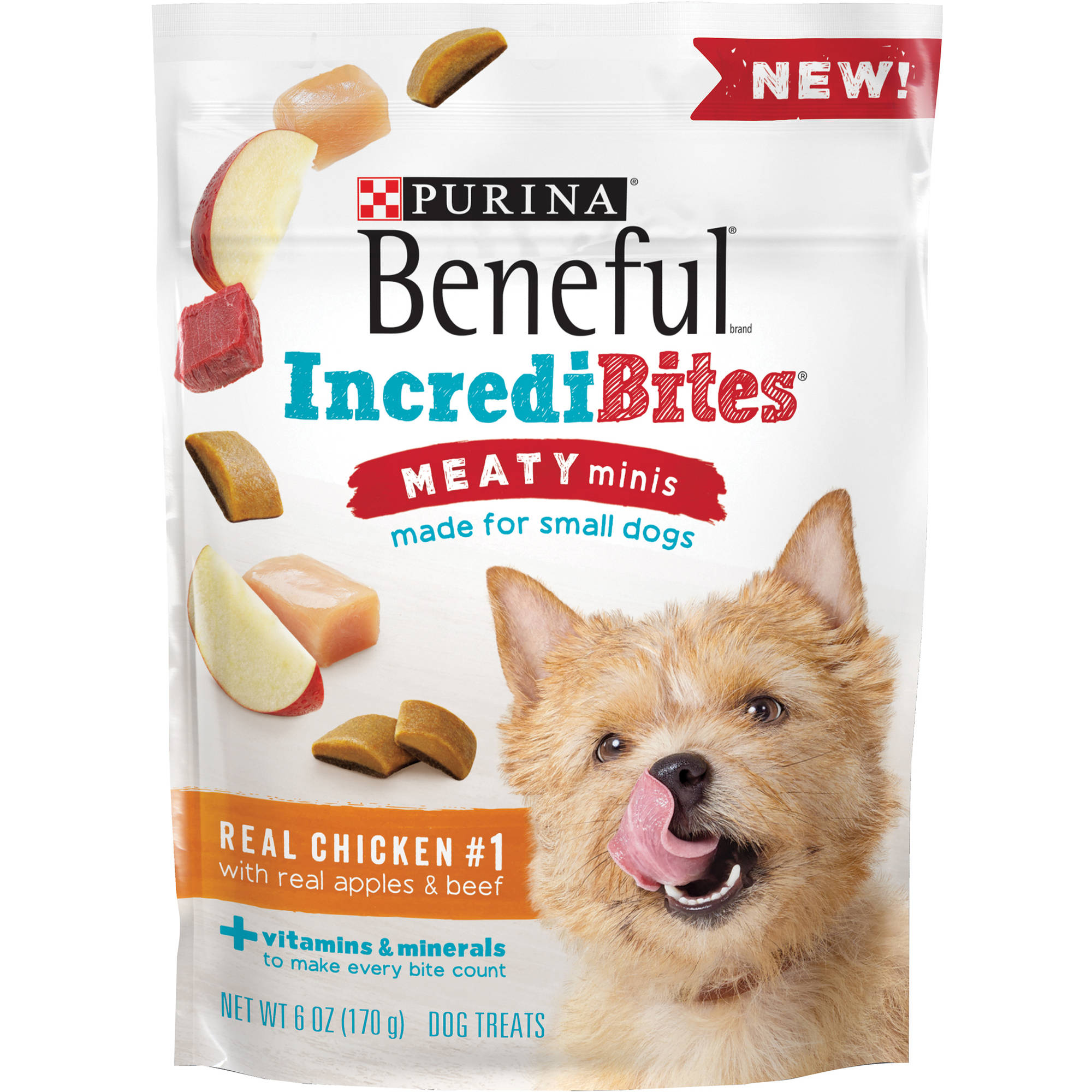 Purina Beneful IncrediBites Meaty Minis Real Chicken With Real Apples & Beef Dog Treats 6 oz. Pouch by Nestl�� Purina PetCare Company
