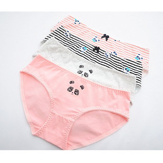cd67d133ad7 Pixnor - Cartoon Bear Print Panties Cotton Briefs Mid Waist ...