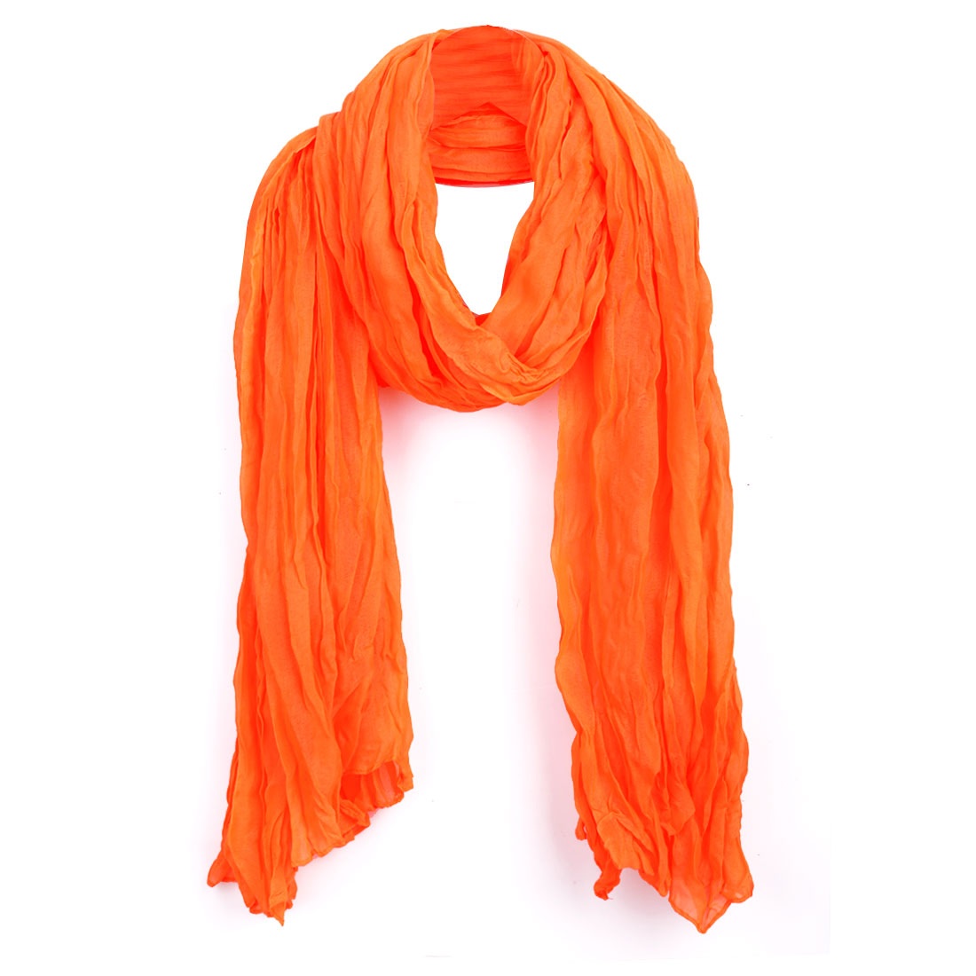 Women Warm Classic Leisure Autumn Wearing Scarf Orange