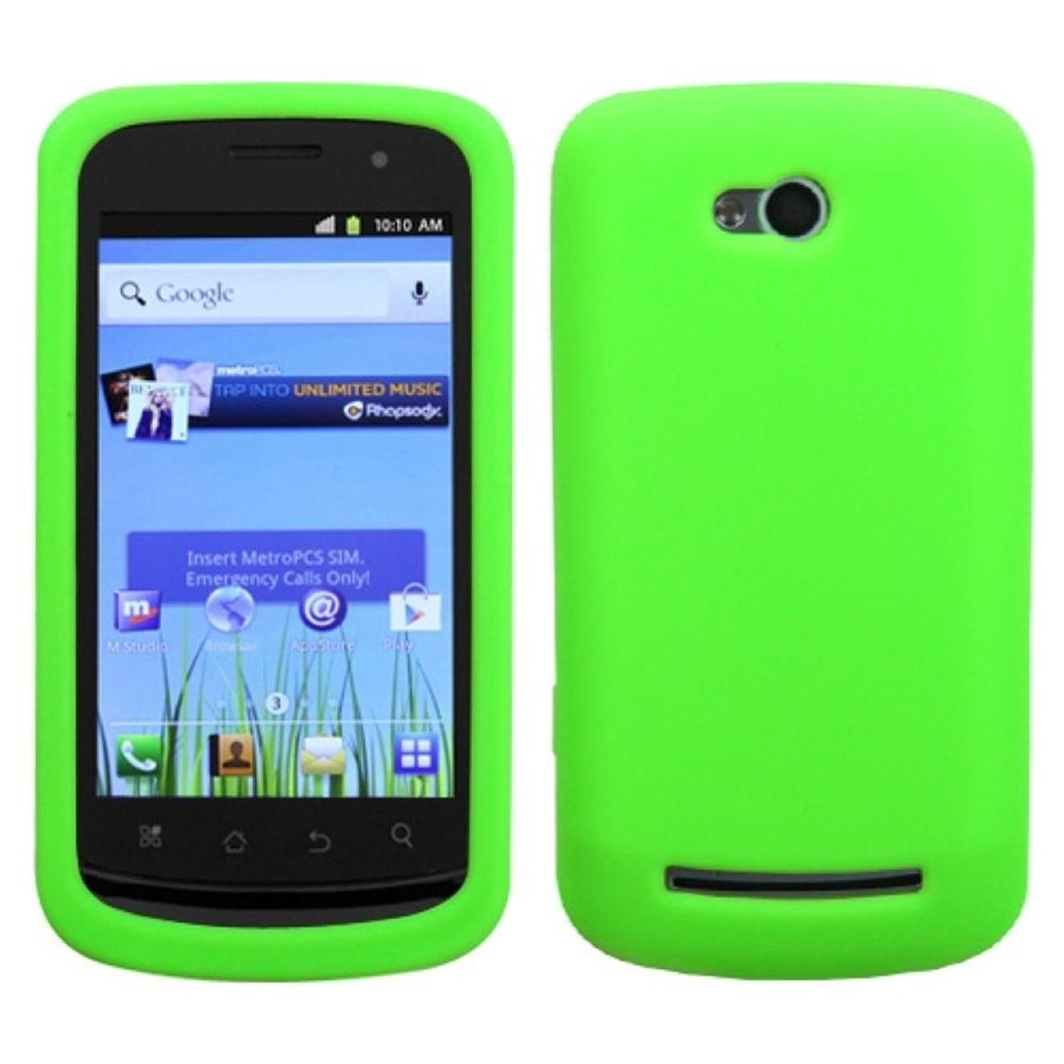 INSTEN Solid Skin Case (Electric Green) for COOLPAD: 5860E (Quattro 4G)