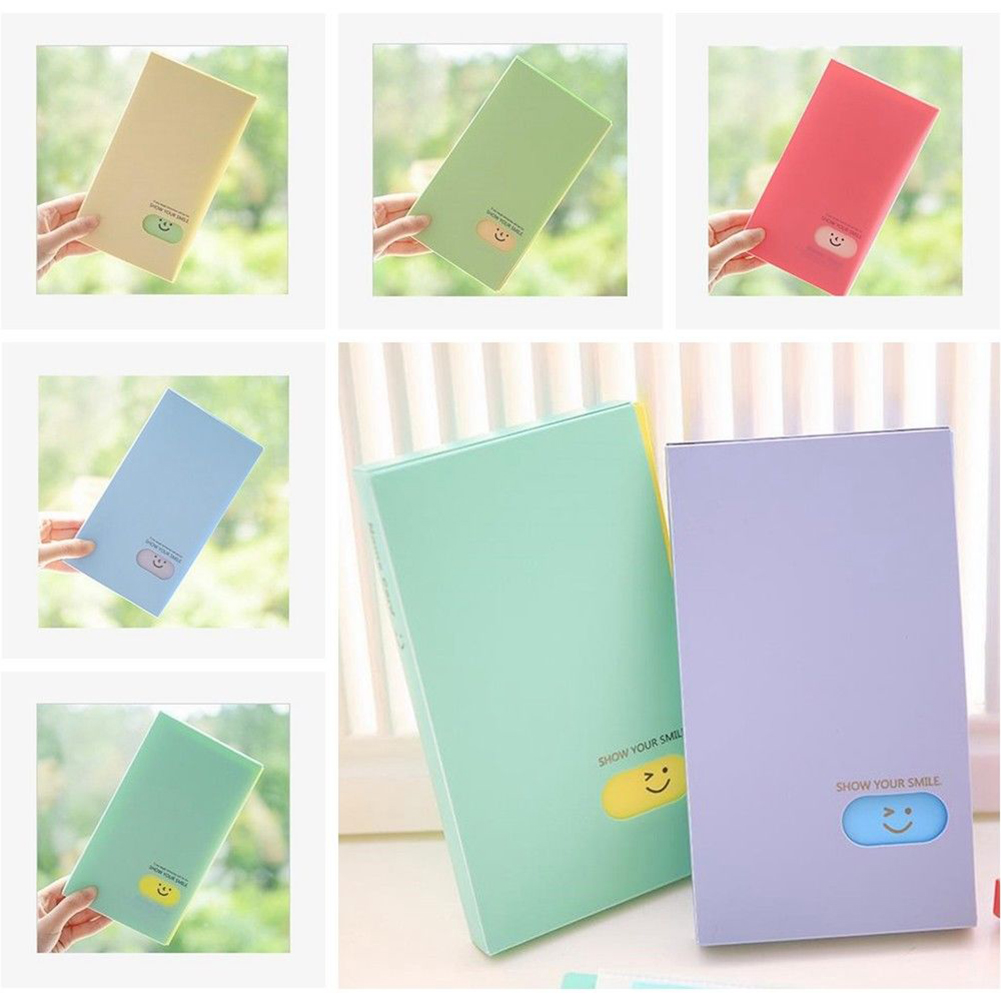 Heepo 120Pockets Photo Album Smiley Face Candy Color ID Business Name Card Holder Book