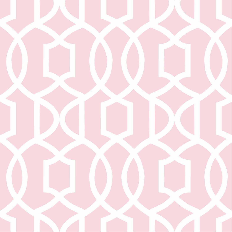NuWallpaper Pink Grand Trellis Peel and Stick Wallpaper by Brewster