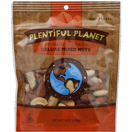 Plentiful Planet Deluxe Mixed Nuts, 6 oz, (Pack of 6)