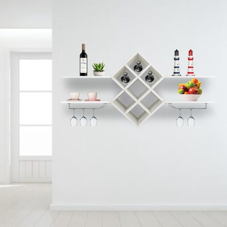 LHCER Wall-Mounted Wine Stemware Glass Rack Cabinet Multi Bottle Holder,Wine Rack, Wall Mounted Wine Holder ()