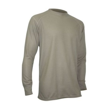 XGO Mens Phase 2 Performance Long Sleeve Crew, Desert Sand, M 2GB11A-M-700